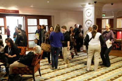 AT6 Ripples - Fans gather and sing in the lobby - Image courtesy GABIT Events
