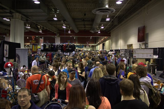 Crowds in Hall at Calgary Expo