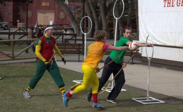 Playng Quidditch at Calgary Expo