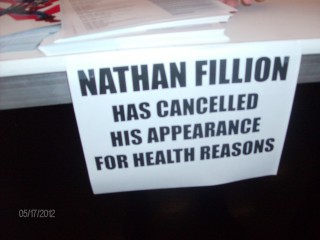 Nathan Fillion DCC 2013 Cancelled