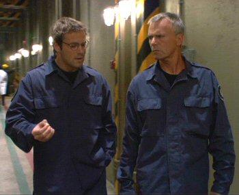 Stargate SG-1 Richard Dean Anderson with Michael Shanks