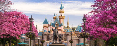 Disneyland - Walt Disney and Mickey Mouse statue - Click to learn more at the official web site