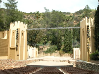 Ford Theatre Stage flanked by 2 towers - Click to learn more!