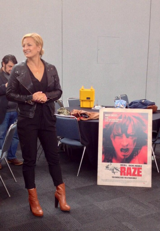 NYCC 2013 4a - Zoe Bell in Press Lounge