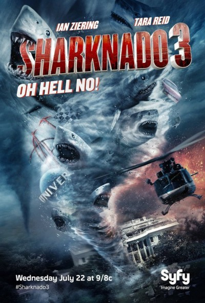 Sharknado 3: Oh Hell No! Click to visit and follow SharknadoSyfy on Twitter!