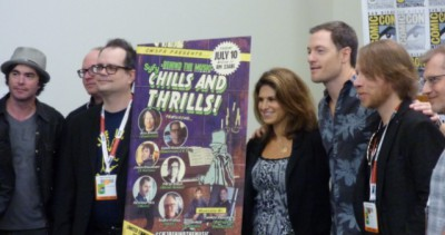 SDCC 2015 Syfy Chills and Thrills composers with Jana of CW3PR