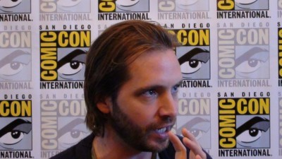 SDCC 2015 Aaron Standford in Syfy Press Room shares thoughts on a character switch