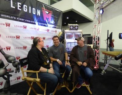 SVCC 2016 The Legion M interview (l-r) Lori, Paul and Jeff