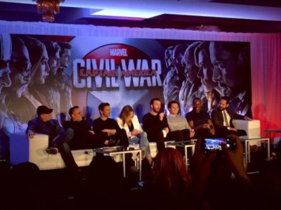 Captain America Civil War panel - Image cortesy Jeremy Renner Twitter
