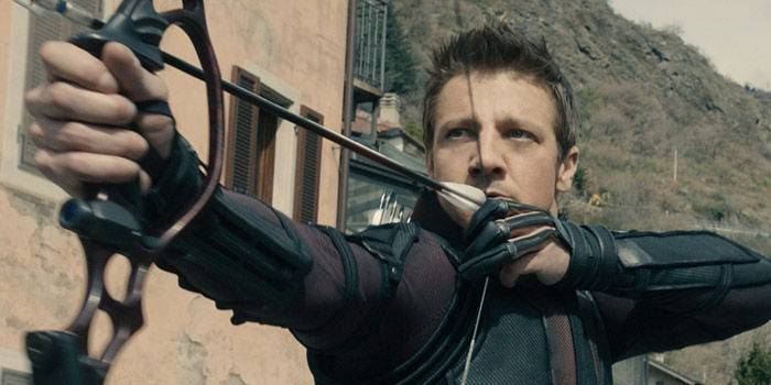 Jeremy Renner as Hawkeye in The Avengers Age of Ultron - Click to learn more at the official Marvel web site!