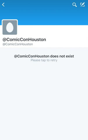 Space City Comic Con Twitter