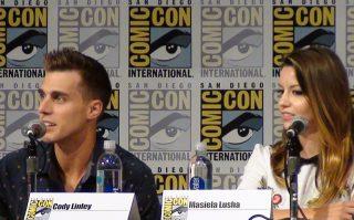SDCC 2016 Sharknado 4 Panel Cody Linley and Masiela Lusha