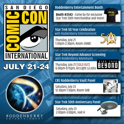 SDCC 2016 Star Trek 50 year anniversary poster