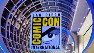 San Diego Comic Con Logo - Click to visit and follow Comic-Con at their official web site!