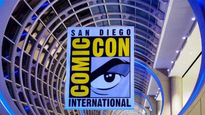 San Diego Comic Con Logo - Click to visit and follow Comic-Con on Twitter!