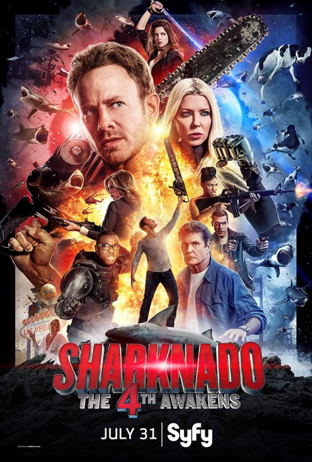 Sharknado The 4th Awakens poster - Click to visit the official Syfy web site!