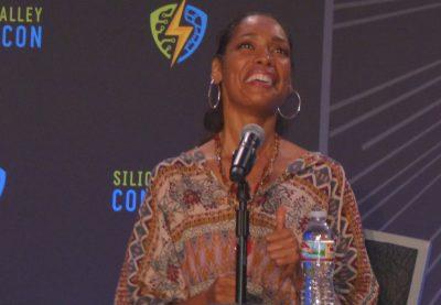 SVCC 2017 Delightful smile of Gina Torres