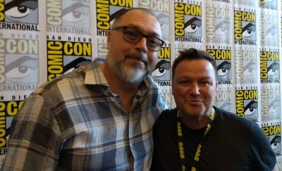 SDCC 2017 Van Helsing Press Room Chad Oakes and Mike Frislev
