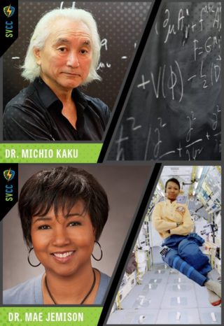 Doctors Michio Kaku and Mae Jemison - Click to learn about all the guests at SVCC 2018!