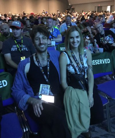 SDCC 2019 Jason Lazarus Interview at composer panel with friend