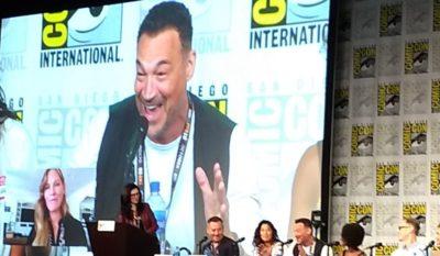 SDCC2019 Van Helsing Panel Aleks and Kelly on Screen