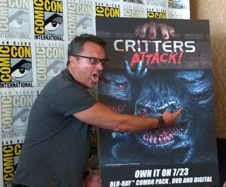 SDCC 2019 Steve Blum at Critters Attack Press