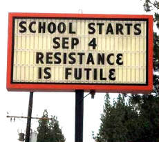 Learn more aboiut School and how Resistance is Futile!