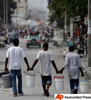 The Haiti earthquake image courtesy Associated Press