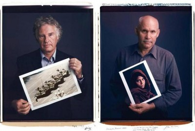 Famous pictures-AP Photographer Jeff Widener L - Photograph by Steve McCurry - R