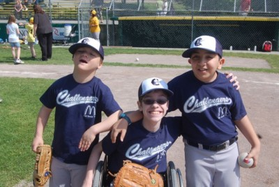 Challenger Baseball kids - Click to learn more at the official web site!