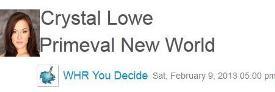 0956 – You Decide Radio Crystal Lowe on Primeval New World
