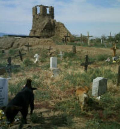Taos New Mexico Pueblo-Graveyard - Image courtesy Deborah Ledford web site