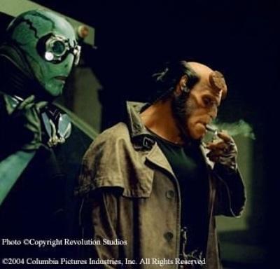 Doug Jones with Ron Perlman in Hellboy