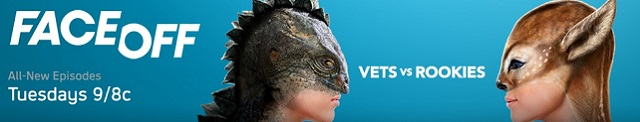 Face Off banner logo 2013 - Click to learn more at the official Syfy web site!