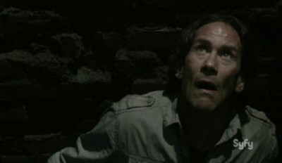 Helix S2x05 Peter stares up at Alan from the Oubliette
