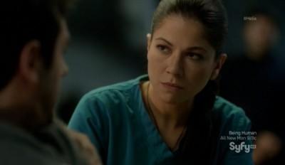 Helix S1x08 - Anana aka Luciana Carro attends to Major Balleseros wounds