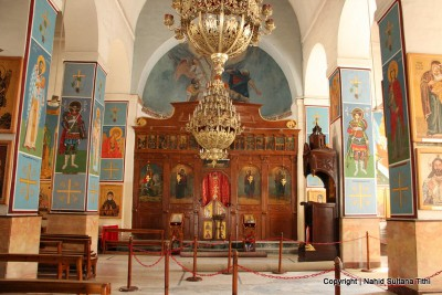 Click to learn about the Saint George Church in Madaba Jordan